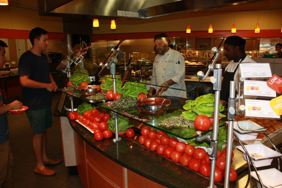 UVA dining hosts one of many meals that features locally sourced produce. Photo from: UVA Dining.