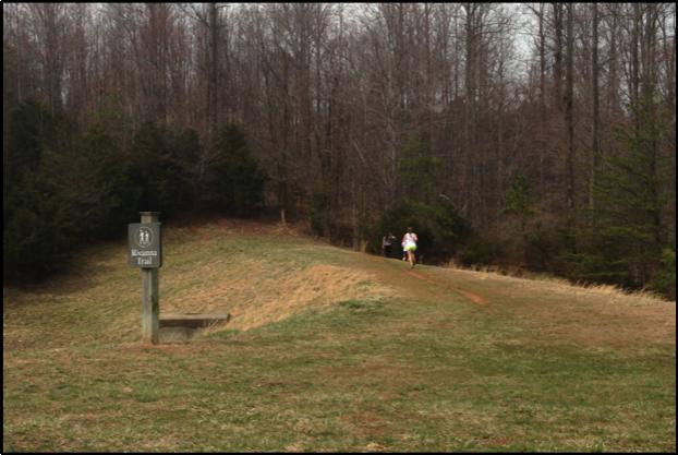 Rivanna Trail Entrance adjacent to UVA Law.